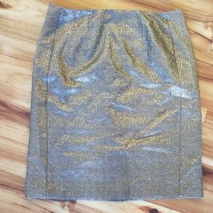 New York and Company metallic pencil skirt 8